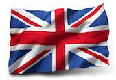Flaga symbolizująca język angielski