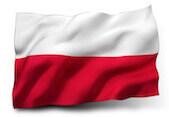 Flaga symbolizująca język polski dla obcokrajowców