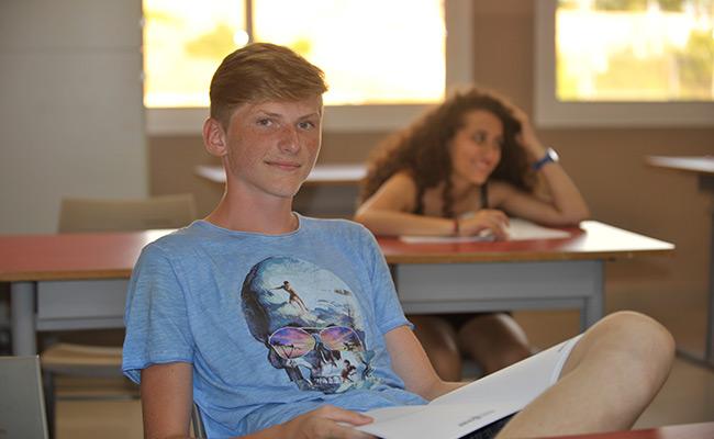 Hiszpania obóz językowy dla młodzieży w Maladze -sala lekcyjna