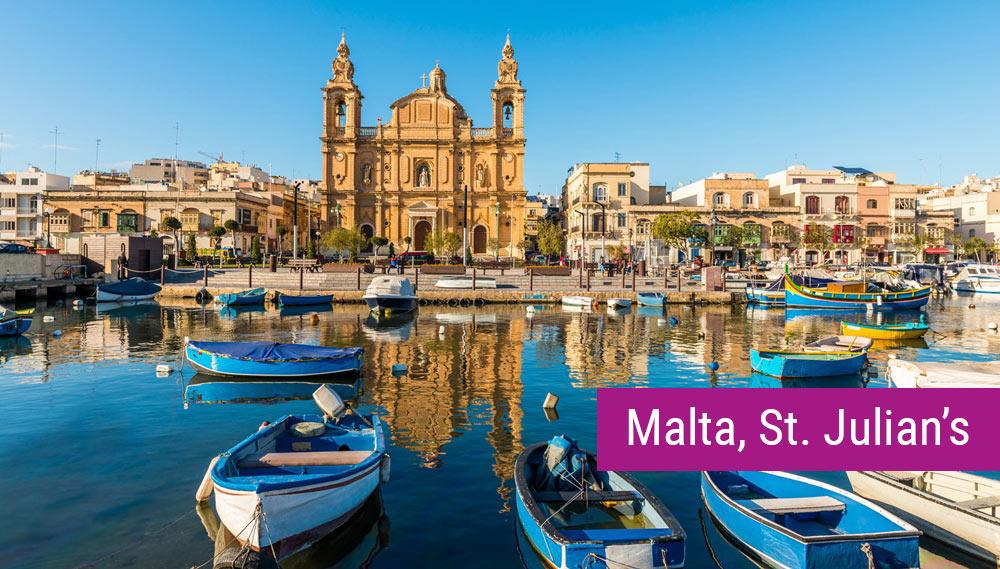 Malta, St Julian's - obóz językowy dla młodzieży