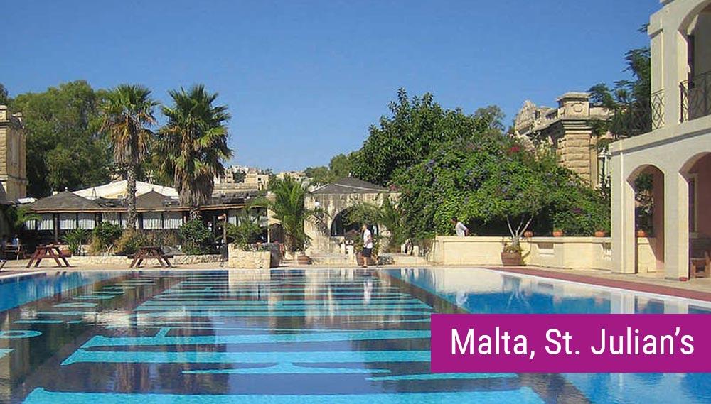 Malta, ST. Julian's - kampus szkolny z basenem (Sprachcaffe)