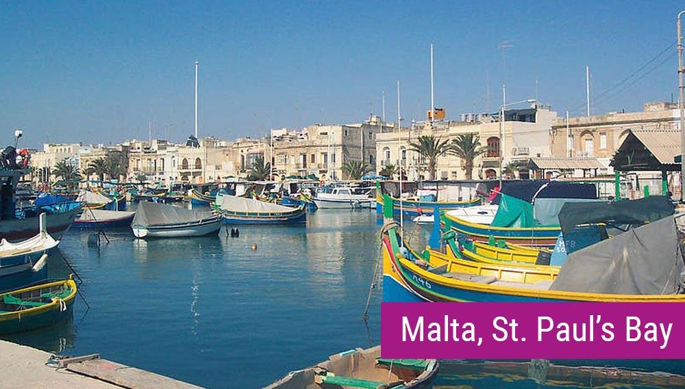 Malta, St. Paul's Bay - obóz językowy dla młodzieży
