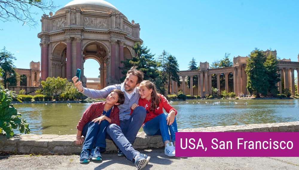 San Francisco nauka angielskiego dla rodzin