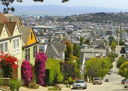 Zwiedzanie ulic San Francisco - kurs angielskiego w USA dla rodzin