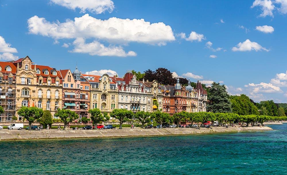 Konstancja - promenada nad Jeziorem Bodeńskim